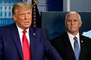 Archieffoto van Donald Trump en Mike Pence.