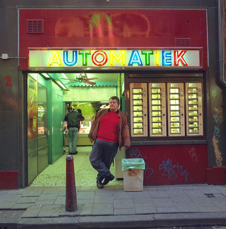 Automatiek in de Brugsteeg (1995). Beeld Hollandse Hoogte / Jan Bogaerts