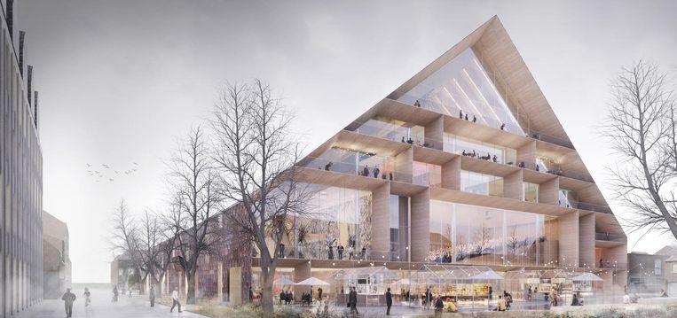 De Deense groep Blaton-Big ontwierp een langgerekt huis met schuine daken.