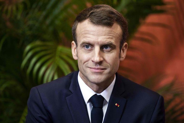 De Franse president Emanuel Macron.  Beeld AFP