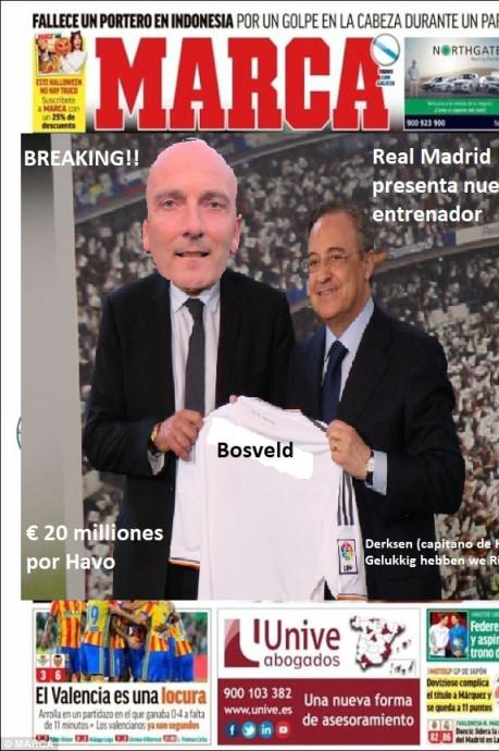 HAVO raakt interim-coach kwijt aan Real Madrid en Redichem heeft 'pinchhitter van 3 meter 50'