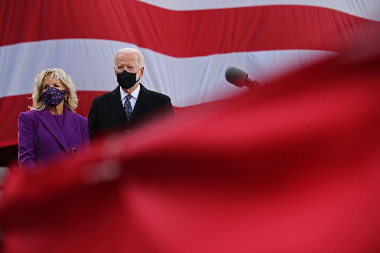 Joe Biden en zijn vrouw Jill.