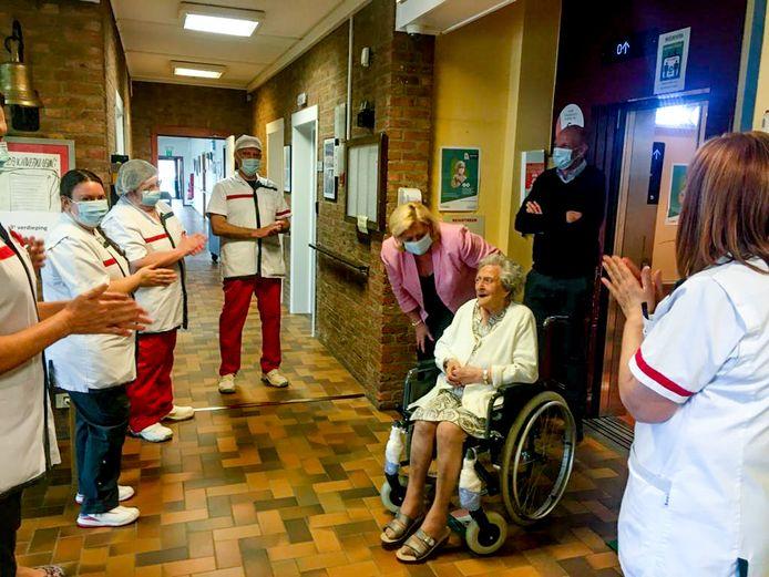 Elisabeth viert haar 105de verjaardag in woon-zorgcentrum Populierenhof.