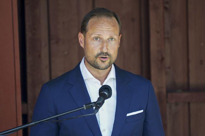 """""""Namens de koninklijke familie en het hele Noorse volk wil ik jullie bedanken voor alles wat jullie hebben gegeven en voor alles wat jullie hebben opgeofferd, zodat we in een vrij land kunnen leven"""", zei Haakon in zijn toespraak."""
