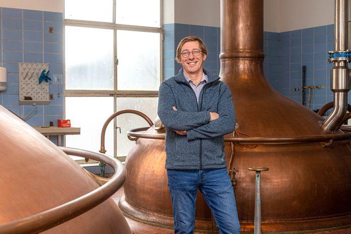 Charles Leclef, CEO van de Mechelse brouwerij Het Anker, in de brouwzaal.