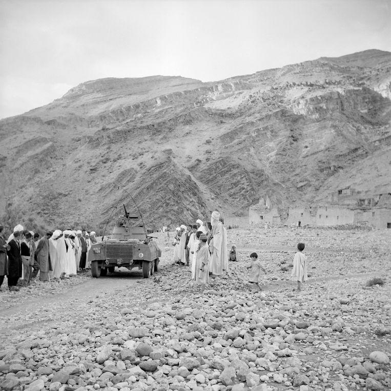 Gistoricus Benjamin Stora schat dat tijdens de Algerijnse onafhankelijkheidsoorlog, die duurde van 1954 tot 1962, 500.000 mensen zijn overleden, van wie 400.000 moslims. Beeld AFP