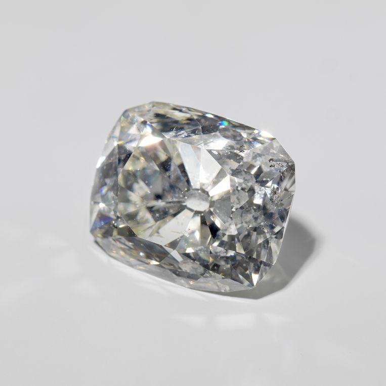 Ooit was deze buitgenomen diamant eigendom van Panembahan Adam, de sultan van Banjarmasin (Kalimantan).  Beeld Rijksmuseum