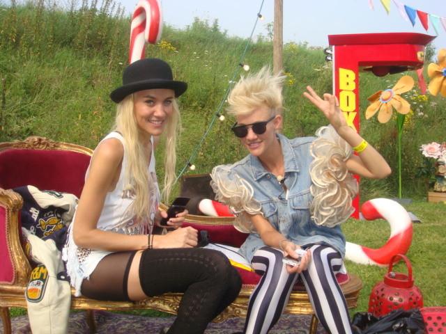 Liv (links) en Mim Nervo.