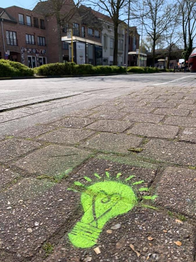 Een voorbeeld van een 'groeilamp' in het straatbeeld van Izegem.