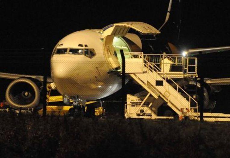 Vrijdag werd er in een vliegtuig op het vliegveld East Midlands een verdacht pakketje gevonden. ANP Beeld