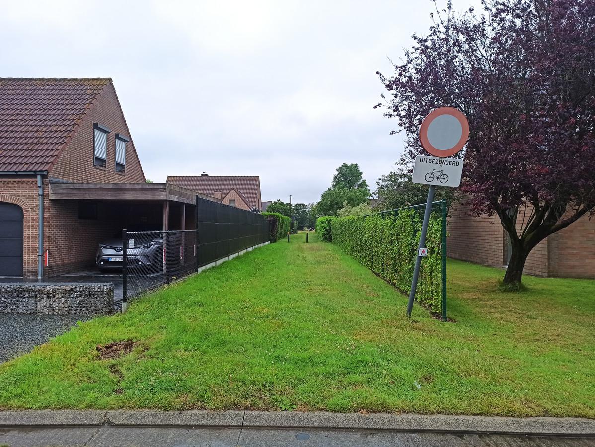 Een getuige zag twee verdachten een wegel in de Stormramstraat inspurten.