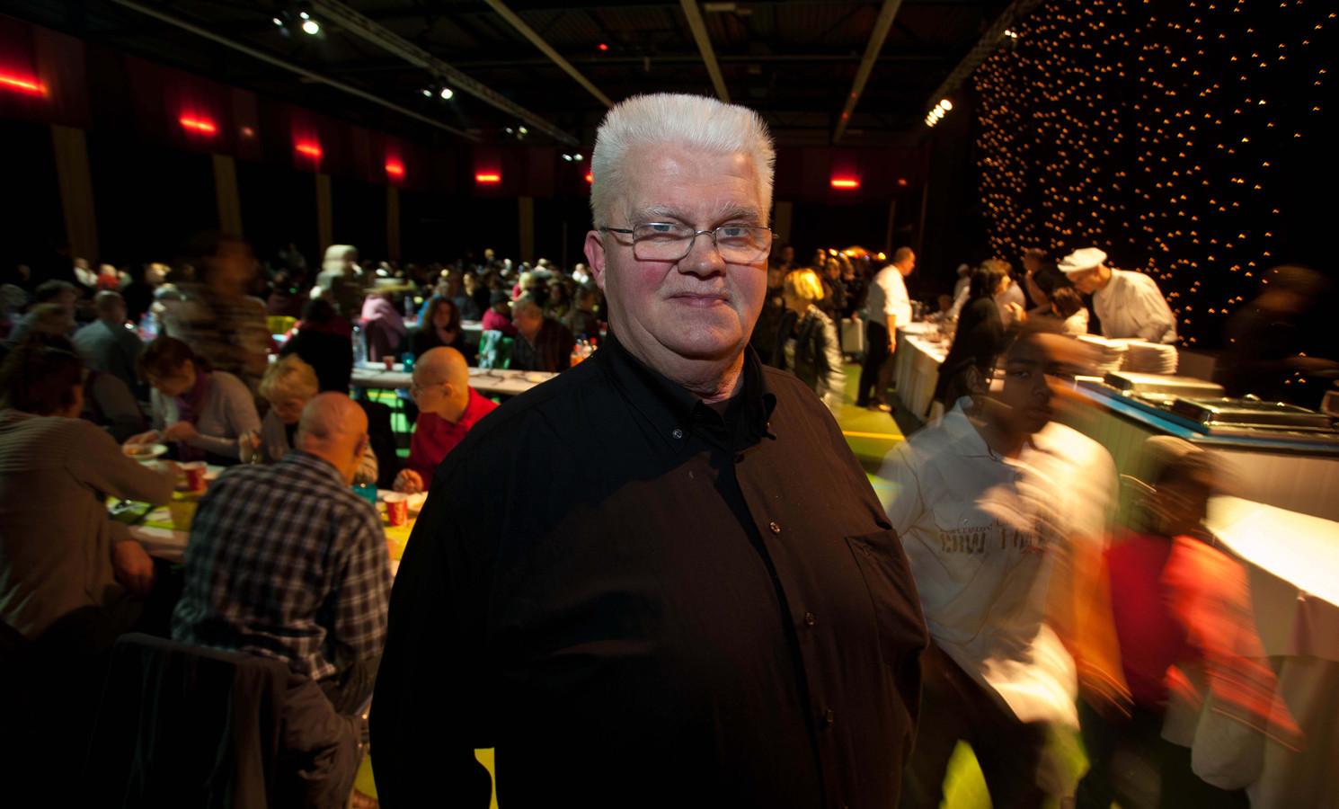 Kerstdinerorganisator Joop van Ommen op een archieffoto.