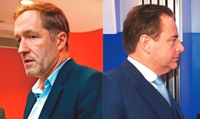 Voorzitters Paul Magnette (PS) en Bart De Wever (N-VA): het is moeilijk om water en vuur te verzoenen.