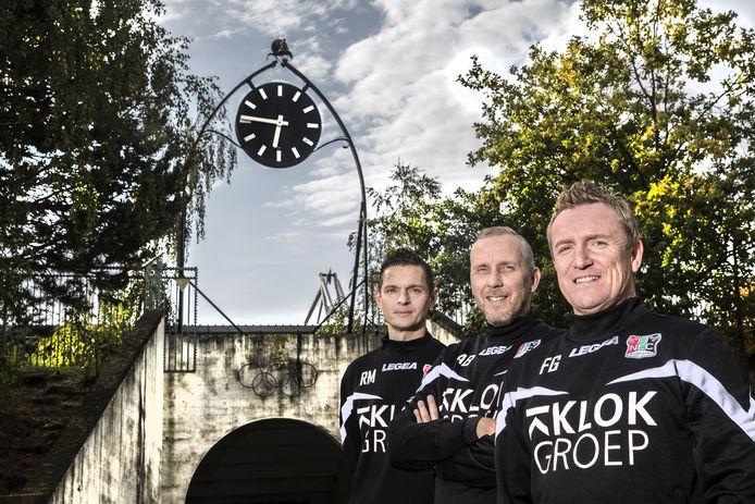 De drie trainers van NEC met vlnr: Rogier Meijer, Adrie Bogers en François Gesthuizen.