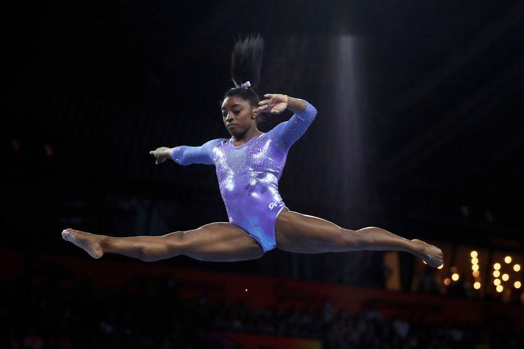 Simone Biles: op eenzame hoogte in het turnen. Beeld AP