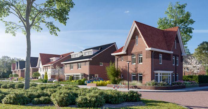 De komende tijd begint de bouw van  nieuwe huizen in de Bornsche Maten. Veel is al verkocht.