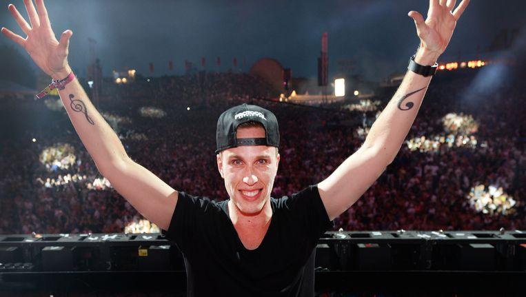 DJ Nicky Romero tijdens de twintigste editie van Dance Valley. Beeld anp