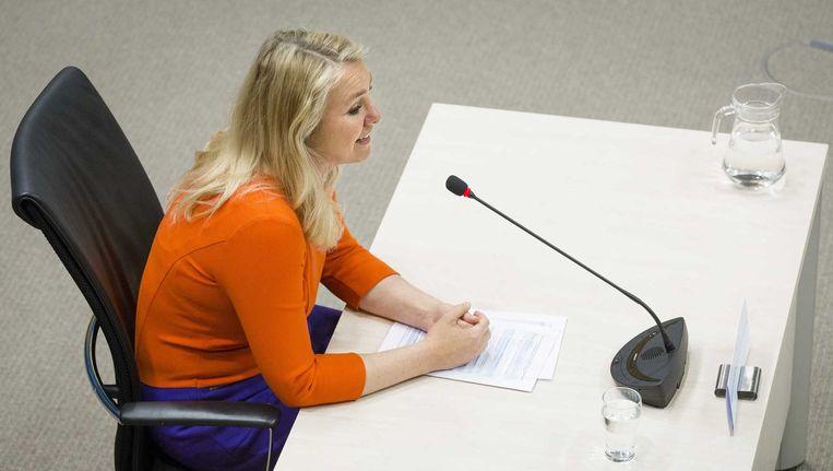 Minister Melanie Schultz verschijnt voor de parlementaire enquetecommissie Fyra Beeld anp