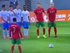 """Ronaldo moqué après un coup franc complètement raté: """"La NASA peut être fière de ce gars"""""""