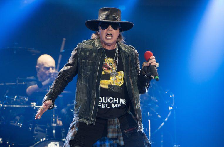 Guns' N Roses zanger Axl Rose is niet zo gesteld op de muziekkeuze van Donald Trump.  Beeld EPA