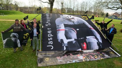 Jasper Stuyven Fanclub gaat groen. In Parijs-Roubaix stampen ze ecologisch fandorp uit de grond.