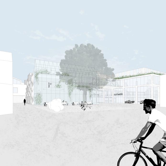 De Body Building met exporuimte (links) en het werkgebouw met Houben Worstenbroodjes van Made by NRE.