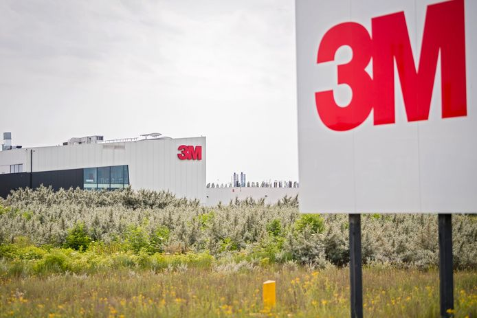 De fabriek van 3M in Zwijndrecht.