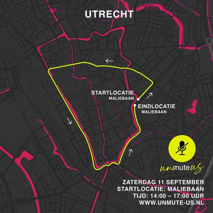De route door Utrecht.
