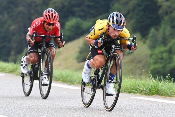 Quintana en Roglic in de Tour.