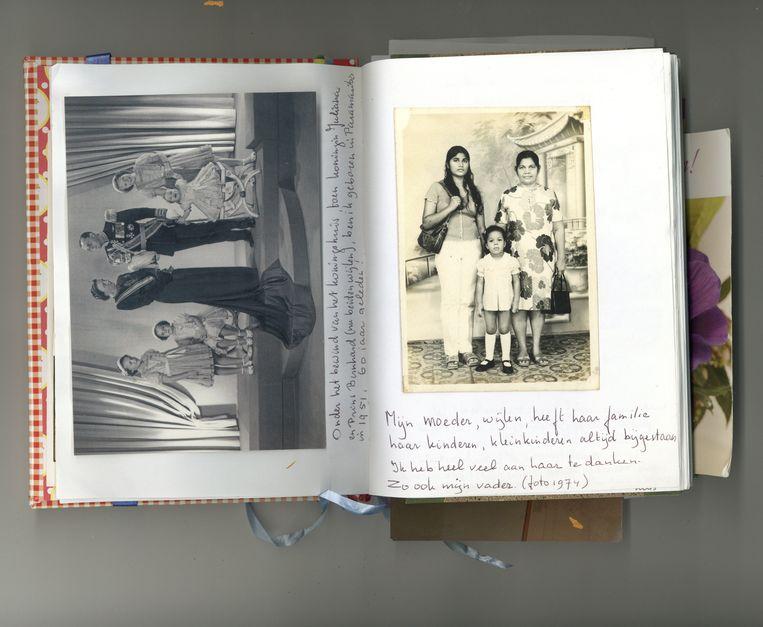 Het dagboekfragment over Chitanies moeder. Beeld prive archief