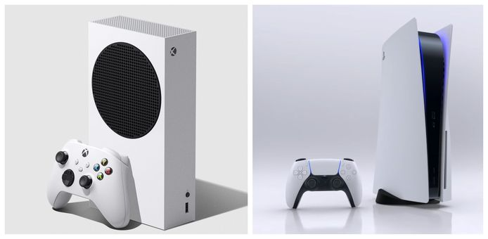 La Xbox Series S et la PlayStation 5.