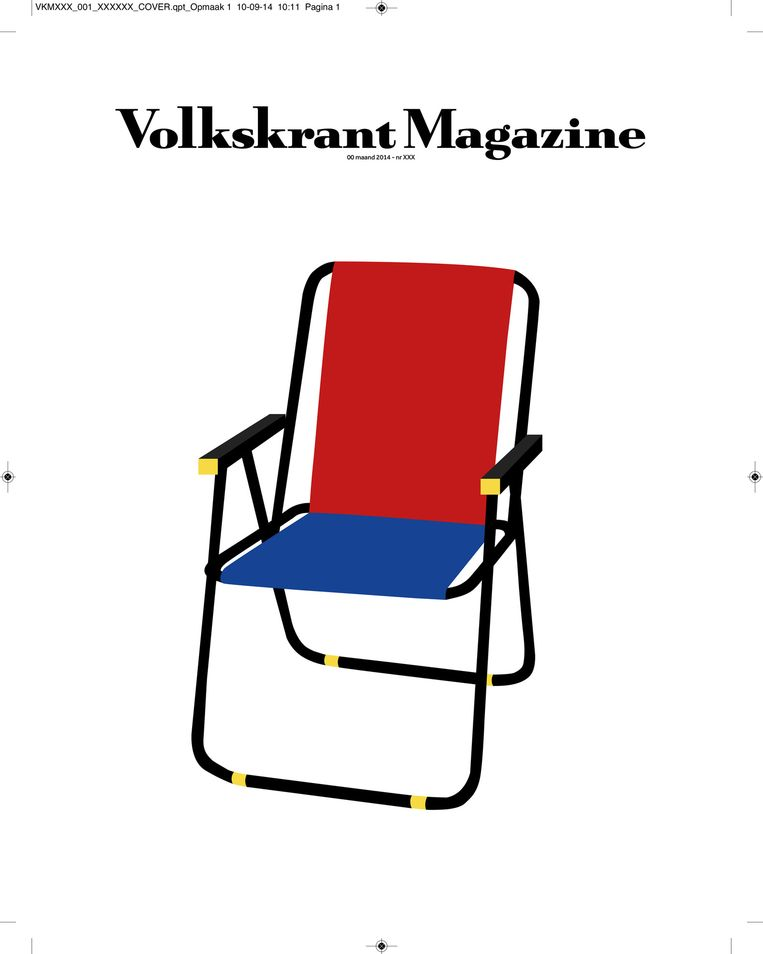 Denise Fernholz, student van AKI ArtEZ Art & Design Enschede, twijfelde tussen een frikandel, een camping en Rietveld als typisch Nederlandse iconen. Uiteindelijk koos ze voor een combinatie van de laatste twee. Beeld Denise Fernholz