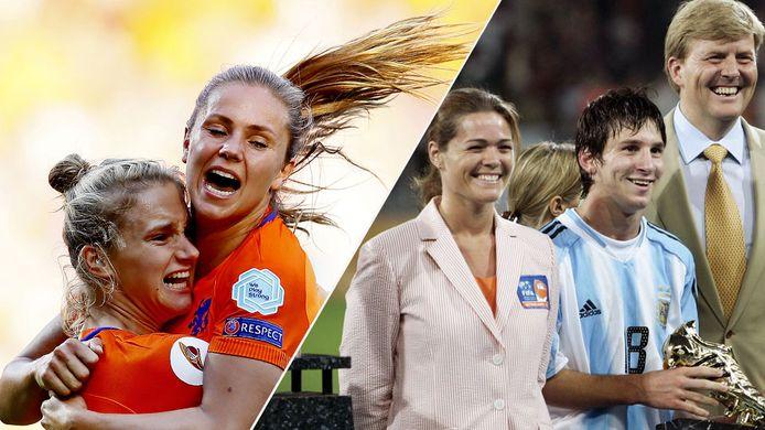 Lieke Martens (tweede van links) en Lionel Messi (tweede van rechts) schitterden beiden eerder in Enschede