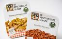 Vegetarische Kipstuckjes en Gerookte Speckjes. Er dreigt een Europees verbod te komen op deze productnamen.