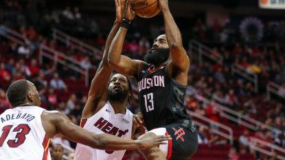 """Geen maat op """"The Beard"""": James Harden leidt Houston met 58 punten voorbij Miami"""