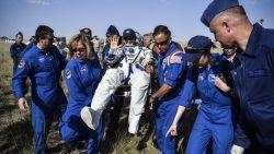 Drie astronauten landen terug op Aarde na 204 dagen in de ruimte