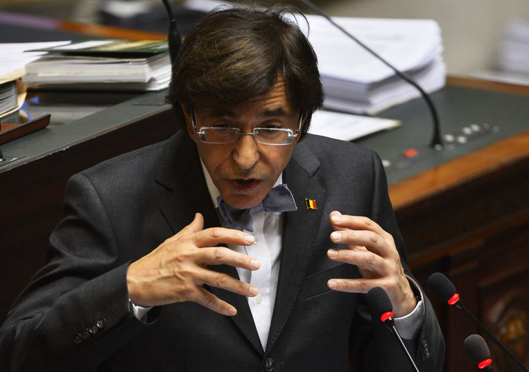 Premier Elio Di Rupo. Beeld BELGA