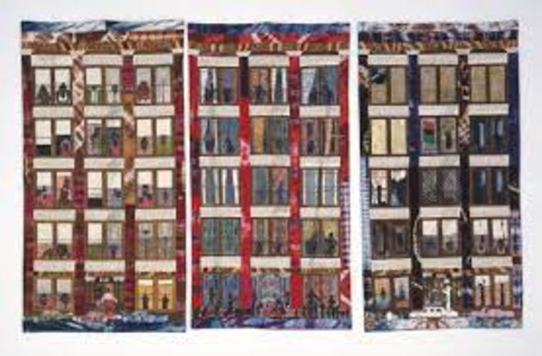 Faith Ringgold, Street Story Quilt (1985) Beeld Pictoright Amsterdam