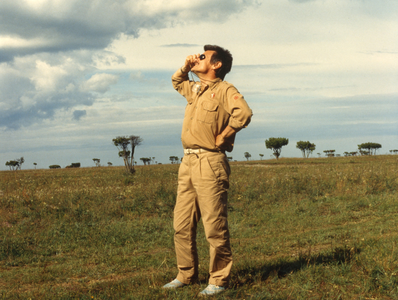 Tarkovski op de set van Offret in 1986.  Beeld EYE