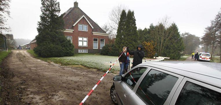 Politieonderzoek bij het huis van S. in Friesland. Beeld EPA