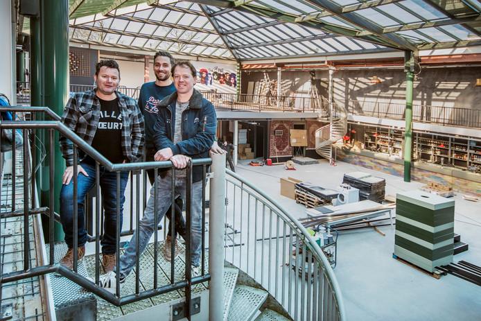 Het driemanschap achter The Inside (vlrn): Alwin Houwing, Erik Haenen en Marrick Verhoeven.
