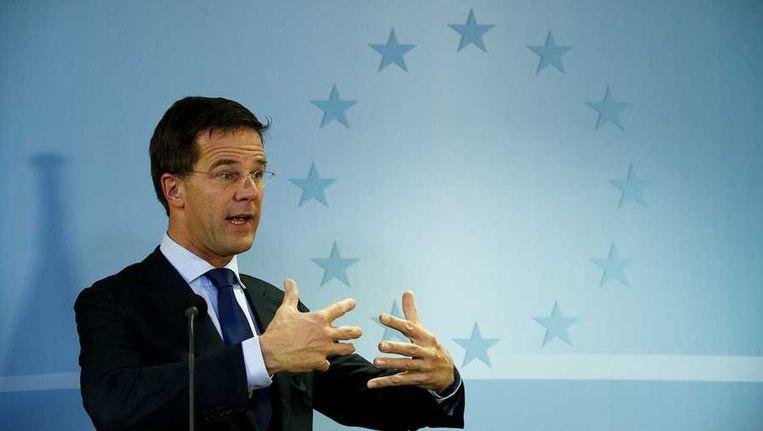 Premier Rutte, vorige week in Brussel. Beeld anp