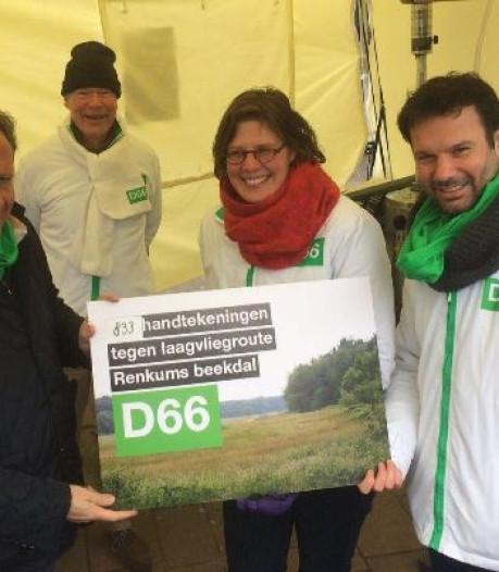 Handtekeningen tegen laagvliegroutes met Pechtold mee naar Den Haag