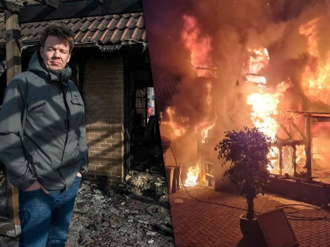 """Daags na verwoestende brand, kijkt Nico naar de toekomst: """"Het leven gaat verder en morgen ga ik gewoon weer aan de slag"""""""