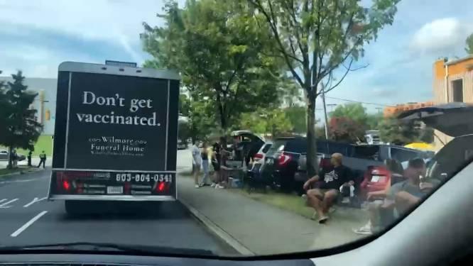 'Laat je niet vaccineren'-campagne voor 'begrafenisondernemer' gaat viraal