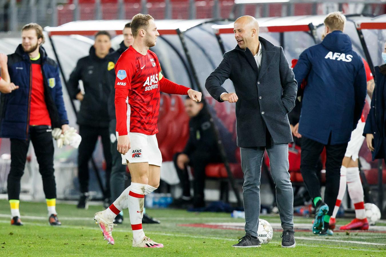 Teun Koopmeiners en Arne Slot.