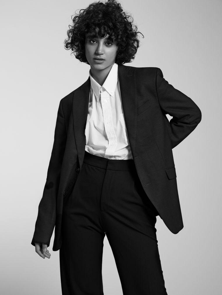 Model Saana Mirzaie. 'Ik had het gemaakt, maar was tegelijkertijd nog nooit zo ongelukkig geweest.' Beeld Nicky Onderwater