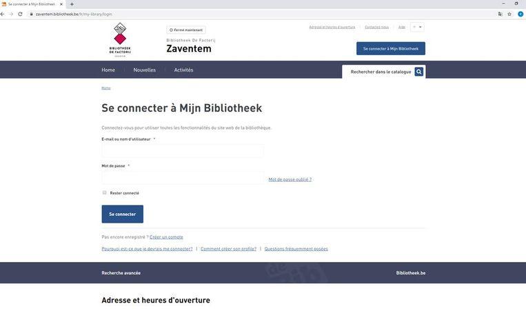 Tot dinsdagochtend was de website van de Zaventemse bibliotheek nog in drie talen beschikbaar.