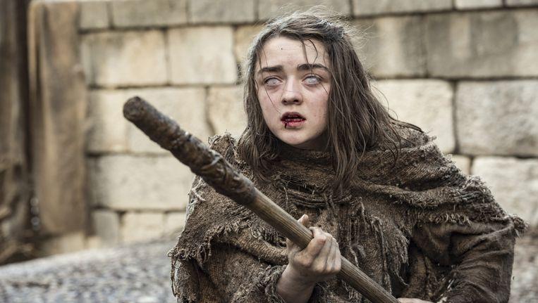 Maisie Williams (19) speelt de rol van Arya Stark en laat zich wel vaker gelden op de sociale media. Beeld AP
