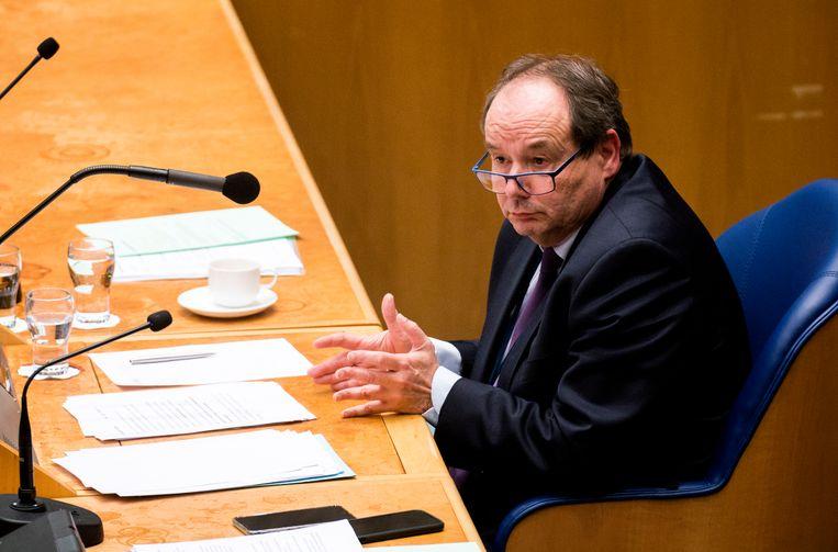 Staatssecretaris Hans Vijlbrief van Financiën in de Tweede Kamer.  Beeld Freek van den Bergh / de Volkskrant